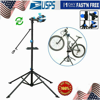 Adjustable Height Bike Repair Stand Portable Home Bicycle Stand w/Telescopic Arm