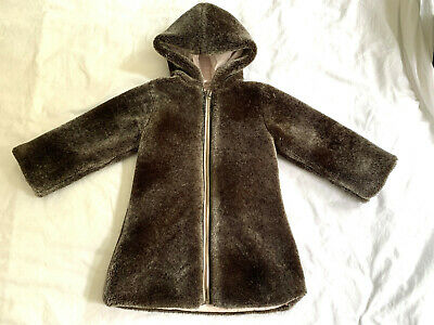 Lili Gaufrette Girl's Pink Reversible Coat. Size 3 Years. Very Good Condition.