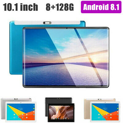 """10.1"""" 4G-LTE Tablet PC Android 8.1 2.5D Screen 8 128GB Dual SIM Phablet PC hd"""