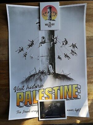 Banksy Walled Off Hotel Palestine Tower Poster - Brand new with COA
