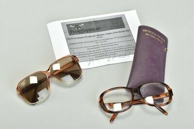 The Late Sir Christopher Lee's Personal Reading Glasses & Logo Sunglasses. UBFJ