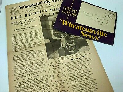 Vintage WHEATENAVILLE NEWS special edition COMPLETE 1930s 32033