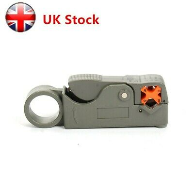 UK Rotary Coax Coaxial Cable Cutter Stripper Tool for RG59 RG58 Lead Insulation