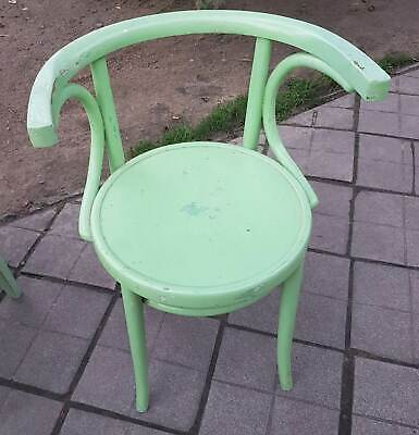 Old Coffee House Chair in Vintage Look in Good Condition Wooden Chair No 1