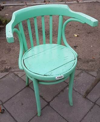 Old Coffee House Chair in Vintage Look in Good Condition Wooden Chair No 2
