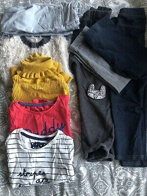 Bundle Of Girls Clothes Age 3-4 Mostly Next, H&m Leggins, Tops, Jeans 9 Items