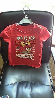Marks & Spencer Angry Birds Summer PJ's Set 'Red is for Anger' -Size 6 - 7 Years