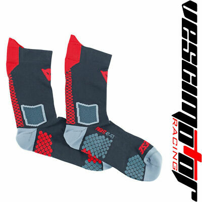 Calza Corta Dainese D-Core Mid Sock Black/Red (Nera/Rosso)