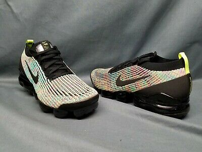 Nike Men's Air VaporMax Flyknit 3 Running Sneakers Black Volt Blue Size 11 NEW!
