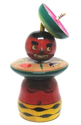"Kokeshi Doll ""Fumio Tsuta"" lightning divination decoration crafts wooden toy"