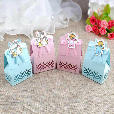 Baby Shower Favors Candy Box Christening Gift Baptism Birthday Party Decor CB