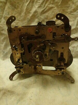 Old Clock Movement For Spares Or Repairs No 10