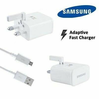 White 100% Genuine Fast Charger Plug Cable,Samsung Galaxy S8 S9 S7 S6 S10+ Edge