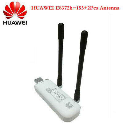 Huawei E8372h-153 HiLink 4G LTE FDD WiFi Dongle Router Two 4G Antenna Unlocked