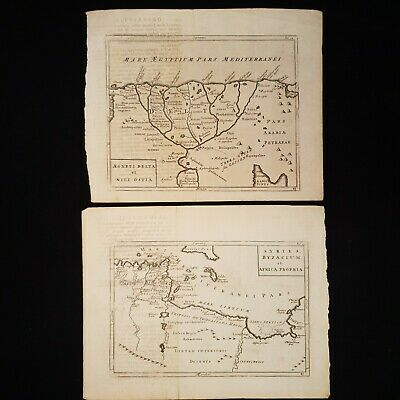 1755 MAPS Africa and EGYPT Copper Plate Syrtes Byzacium & Egypti Delta Nili