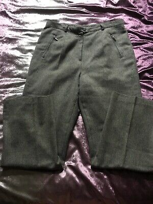 Adult Girls Woman's Marks And Spencer Grey Suit Trousers Size UK 14 Medium