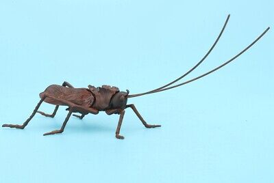 Precious Chinese Red Copper Statue Cicada Solid Mascot Home Gift Collection