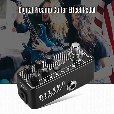 Mooer 020 BLUENO Preamp Preamplifier Guitar Effect Pedal Cabinet Simulation D4O0