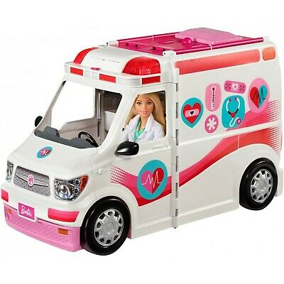 Barbie Care Clinic 2-in-1 Fun Playset for Ages 3Y+ White Standard