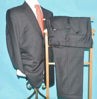 Jos A Bank Signature Gold 42 R Super 120s wool charcoal dark gray suit w1j0