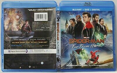 Spider-Man: Far From Home (Blu-Ray/DVD, 2019, 2 Discs) FREE Ship No Digital