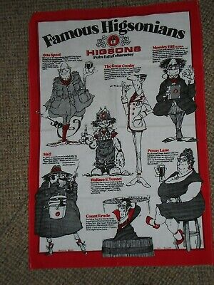 1980 Liverpool Higson's Brewery Famous Old Higsonians Advertising Teatowel