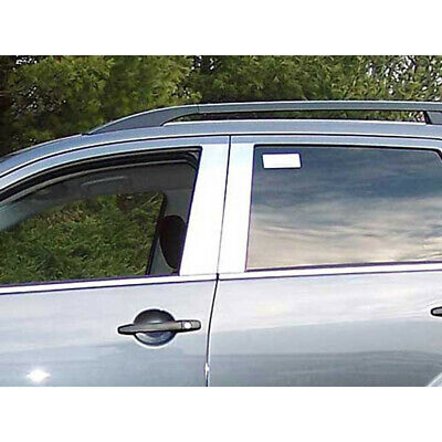 2007-2013 Mitsubishi Outlander 6Pc Chrome Pillar Post Stainless Steel Trim Door