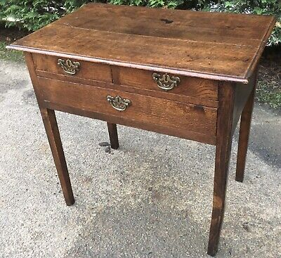 Antique Georgian Oak Lowboy Side Hall Table