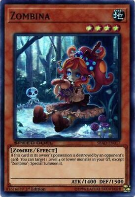 X3 YUGIOH ZOMBINA COTD-EN033 COMMON IST IN HAND READY TO SHIP
