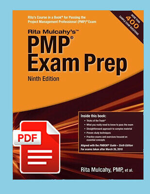 PMP Exam Prep Ninth Edition by Rita Mu lcahy [E.edition] P- D. F