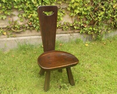 Rupert Nigel Griffiths Monastic Cottage Hall Child Chair Stool Pew Oak Vgc