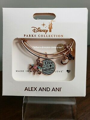 Disney Parks Alex &  Ani I Live In Fantasyland Charm Rose Gold Tone Bracelet Set