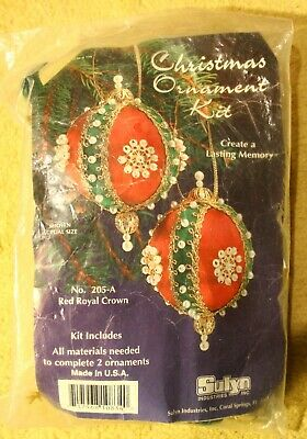 Vintage Sulyn Christmas Ornament kit Red Royal Crown #205-A