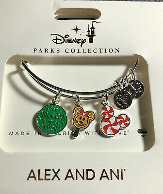 Disney Parks Alex And Ani Christmas Yummiest Time Of The Year Silver Bracelet