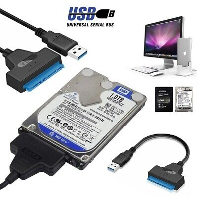 "✅USB 3.0 To SATA 2.5"" External Hard Disk Adapter Drive HDD SSD Cable Converter✅"