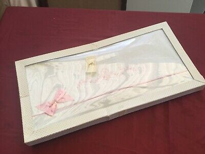 "VINTAGE EMBROIDERED DOUBLE BED SHEET SET"" DAVERN. "" New still on Box Unfolded"