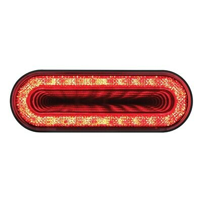 """24 LED 6"""" Oval """"MIRAGE"""" Stop, Turn & Tail Light - Red LED/Red Lens"""