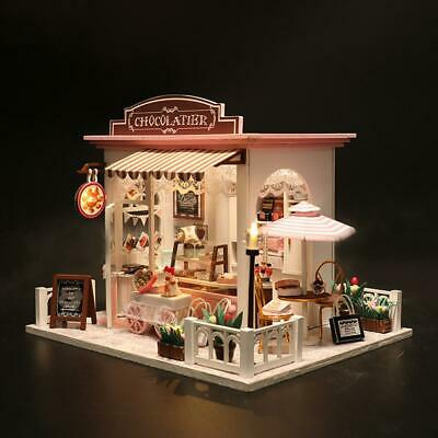 DIY Dollhouse Whimsy Miniature House Model Kits Gift Girls Without Dust Cover GB