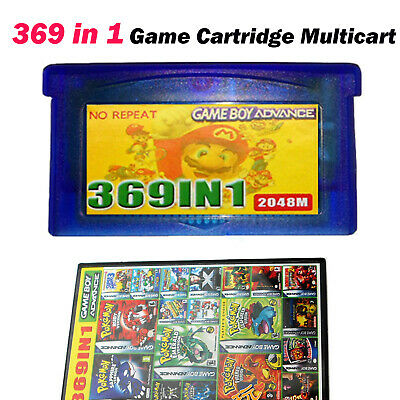 369 in1 Games Game Gaming Cartridge Multicart for GBA NDS GBA SP GBM NDS NDSL