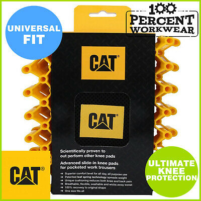 Pro Genuine CAT Caterpillar Redbacks Knee Pads For Work Trousers Pants Overalls