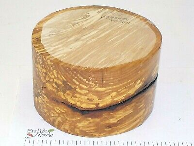 English Spalted Beech woodturning or wood carving bowl blank. 155 x 95mm. 4066A