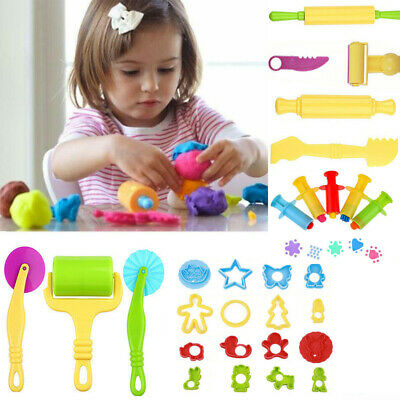 29 x Kids Play Doh Tools Set Modelling Craft Play Dough Mould Mold Toy Cutters