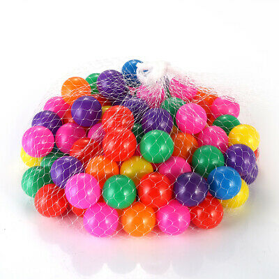 100pc Kids Ball Pit Balls Play Plastic Baby Ocean Soft Toy Colourful Playpen Fun