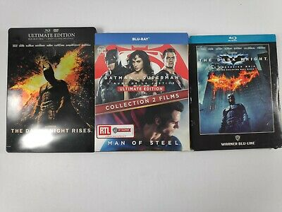 Lot Blu ray Batman v Superman The dark knight rises the dark knight