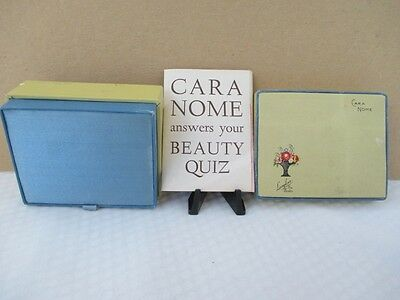"Vintage LANGLOIS BOSTON ""Cara Nome"" Powder Box unused Condition / Pamphlet"