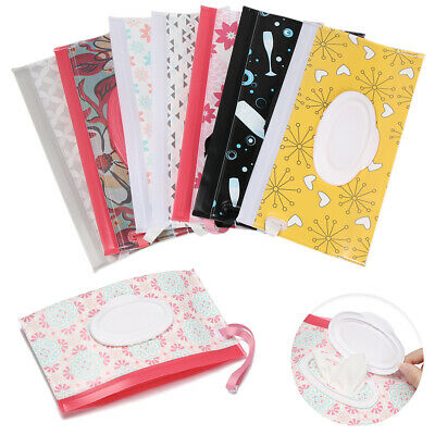 Clean Carrying Case Wet Wipes Bag Home Trendy Pouch Wipes Container Baby AU