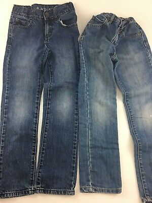 Lot of 2 Pairs Boys Jeans Size 7 Skinny Place Jeans Adjustable
