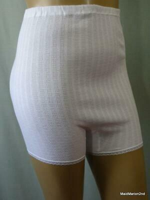 "VINTAGE WHITE COTTON LOOSE LEG KNICKERS PANTIES XXOS 48/50"" HIP NWT       h"