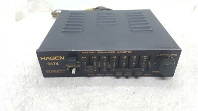VINTAGE Hagen 9174    ---   60 Watt Graphic Equalizer Booster  FOR CAR !!!