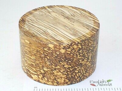 English Spalted Beech woodturning or wood carving bowl blank. 155 x 95mm. 4106A